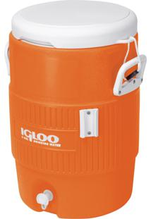 Cooler Térmico Igloo 031260 Gallon 5 Seat Top 18.9 Litros Laranja