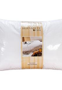 Travesseiro De Cama 90Cm X 50Cm Percal 200 Fios - Travesseiro Impermeavel - Bernadete Casa - Kanui