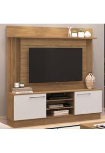 Estante Para Tv Até 52 Polegadas 2 Portas Es240 Naturalle/Branco - Decibal Móveis