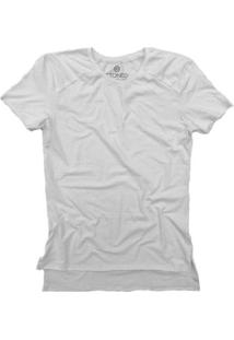 Camiseta Longline Stoned Gold Lisa Masculina - Masculino-Branco