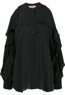 Twin-Set Blusa Com Vazados Nos Ombros - Preto