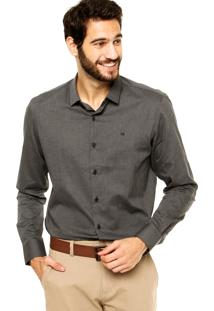 Camisa Calvin Klein Jeans Slim Cinza