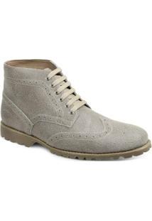 Bota Dress Boot Masculina Polo State - Masculino-Bege