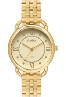 646385b642f ... Relógio Condor Feminino Bracelete Dourado Co2035Mpq 4D