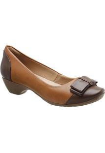 7a0a6da59 Privalia. Sapato Com Salto Feminino Couro Bico Arredondado Tradicional ...