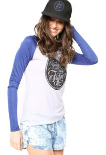 Blusa Hang Loose Youre Just Branca/Azul