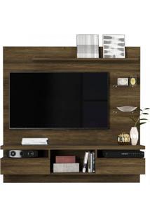 Painel Home Para Tv Até 55 Polegadas 2 Portas E Nichos Antares Colibri Móveis Canela Rústico