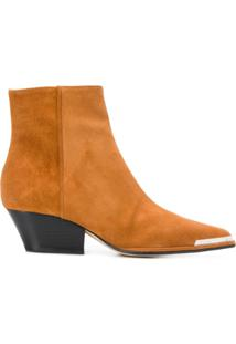 Sergio Rossi Carla Cowboy Style Ankle Boots - Neutro