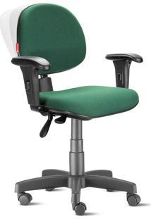 Cadeira Ergonômica Nr17 Executiva Crepe Verde Bandeira