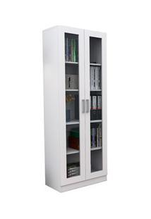 Estante Livreiro 2 Portas Com Vidro Office Plus Arm 3003 Branco - Appu