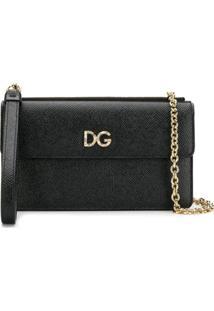 Dolce & Gabbana Clutch Pequena De Couro - Preto