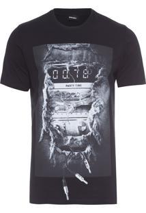 T-Shirt Masculina Joe-Oa Maglietta - Preto