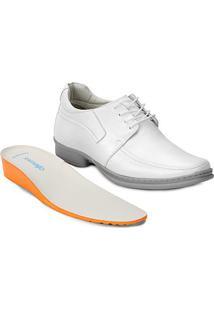 Sapato Conforto Couro Rafarilllo Soft Confort Alth - Masculino-Branco