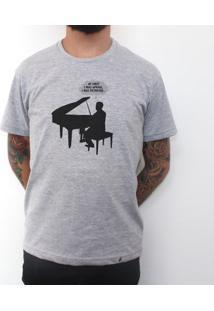 Piano - Camiseta Clássica Masculina
