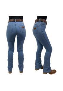 Calça Feminina Flare Badana - Steel Blue - Alabama Ref: 6001
