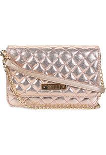 Bolsa Santa Lolla Mini Bag Matelassê Alça Corrente Feminina - Feminino-Ouro Rosa