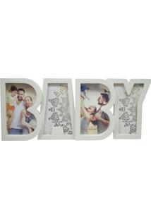 Porta Retrato Minas De Presentes Baby 4 Fotos 10X15Cm Branco