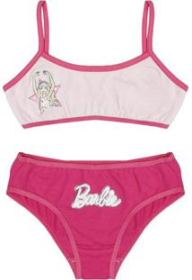 Conjunto Turma Da Barbie® De Soutien Top + Calcinha Biquíni
