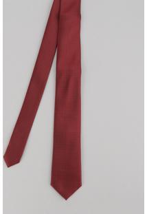 Gravata Masculina Em Jacquard Vermelha