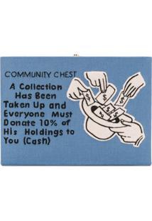Olympia Le-Tan Bolsa Clutch 'Community Chest' - Azul