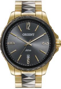 8e04e58c563 Eclock. Relógio Aço Dobrável Analógico Tamanho Grande Feminino Orient Clock  Ftss1082g2ks