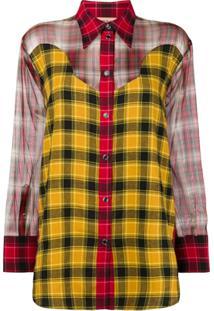 882cb2d0cf Camisa Amarela Seda feminina