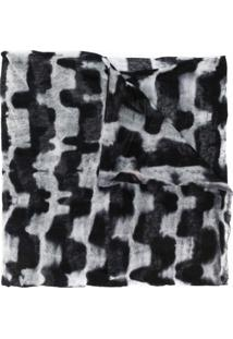 Missoni Echarpe Tie-Dye Geométrica - Preto