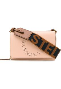 Stella Mccartney Bolsa Transversal Com Logo Na Alça - Neutro