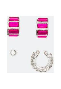 Kit 1 Par De Brinco E 2 Piercings | Accessories | Prata | U