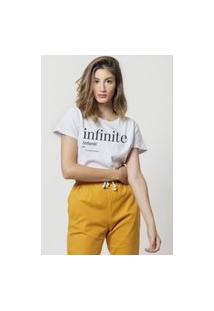 Camiseta Jay Jay Basica Infinite Branca Dtg