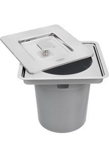 Lixeira De Embutir Inox Quadrada Clean Square 5 Litros - 94518/205 - Tramontina - Tramontina