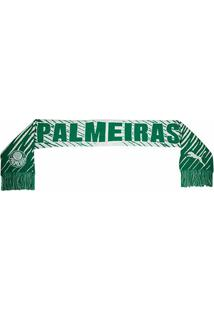 Cachecol Palmeiras Puma Fan - Unissex-Verde+Branco