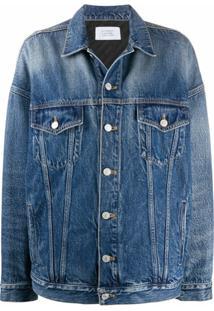 Givenchy Jaqueta Jeans Oversized Com Abotoamento - Azul
