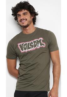 Camiseta Volcom Slim Mood Masculina - Masculino