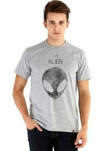 Camiseta Ouroboros Manga Curta Alien - Masculino-Cinza