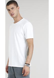 Camiseta Masculina Manga Curta Gola Careca Off White