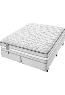 Conjunto Box Super King Molas Ensacadas Americanflex Bed Gel 193X203X73Cm