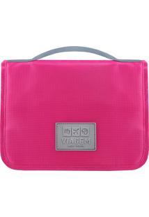Nécessaire De Viagem Com Gancho - Pink - 9X24X18,5Cmjacki Design