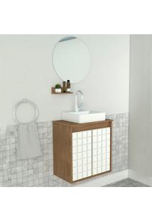 Conjunto De Banheiro Carol 2 Pt ÉBano 50 Cm