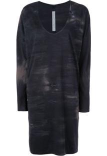 Raquel Allegra Tie Dye T-Shirt Dress - Preto