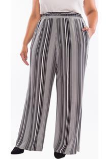 Calça Almaria Plus Size Pianeta Pantalona Preta