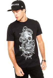 Camiseta Quiksilver Draw Preta