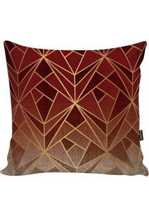 Capa Para Almofada New Geometric- Vermelha & Bordã´- Stm Home