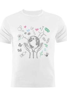 Camiseta Manga Curta Nerderia Eco 2 Branco