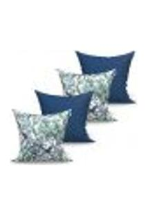 Conjunto De Capas Para Almofada Com 4 Peças Albany Vivace Azul Marinho 60X60 Cm