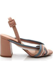 Sandália Salto Grosso Uza Shoes Feminina - Feminino
