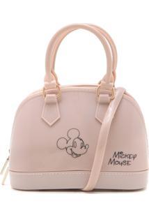 Bolsa Mickey Mouse Verniz Rosa
