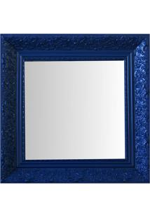 Espelho Moldura Rococó Fundo 16437 Azul Art Shop