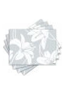 Jogo Americano - Flores Com 4 Peças - 525Jo