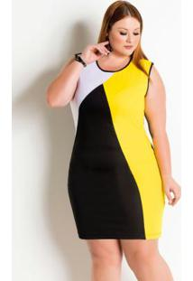 023c590fa3 Posthaus. Vestido Decote Redondo Plus Size ...